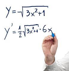 Solving differential calculus.