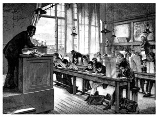 School - École - Schuhle - 19th century