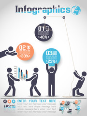 INFOGRAPHICS MODERN BUSINESS BUBBLE ICON MAN STYLE 2