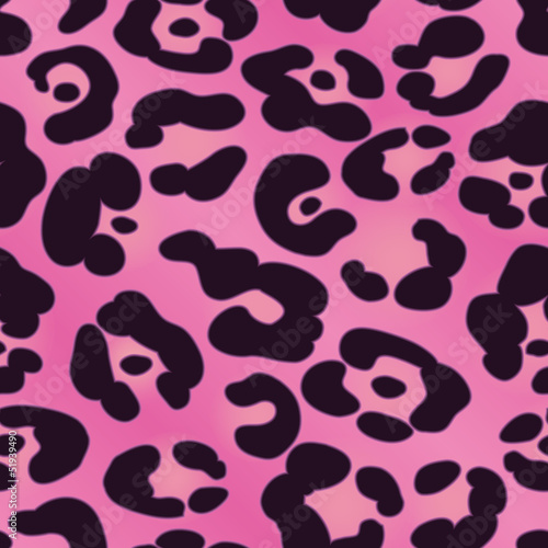 Pink Jaguar Spotted Background