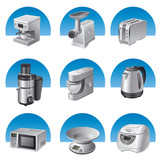 kitchen appliances icon set