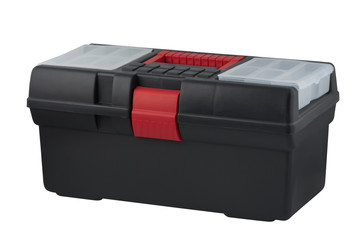 Plastic case for tool storage.