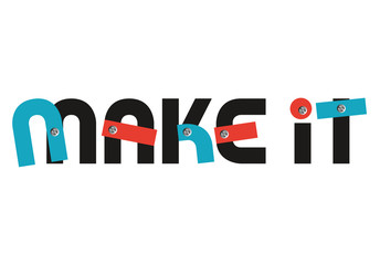Make it concept slogan logo