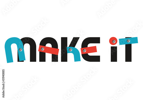 Make it concept slogan logo