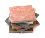 Stack of various stone tiles i