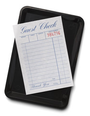 Guest Check With Tray
