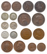 collection of old coins (Great Britain, India, Ceylon)