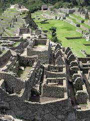 Stone masonry of Machu Picchu. Inca architecture. Peru
