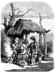 Nice Peasant Family - 19th century