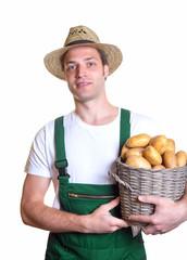 Gärtner mit Kartoffelkorb
