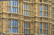 Houses of Parliament facade details (background), London, UK