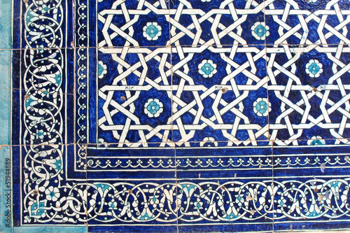 canvas print picture Islamic tile art - Orientalische Fliesenkunst