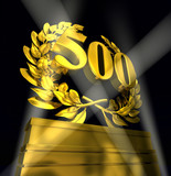 500 number laurel wreath