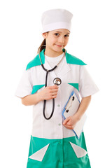 Little girl in a doctor costume