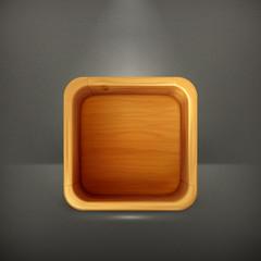 Wooden box app icon