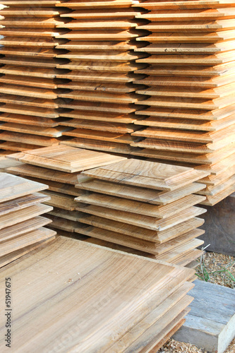 teak woodwork for building