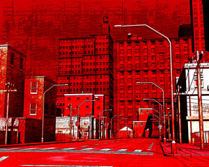 Red Street Grunge Illustration