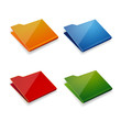 Folder icon vector set