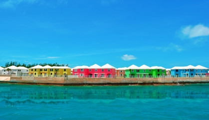 colorful island houses