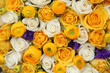 yellow and white bridal flowers