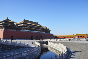 The stream inside Forbidden City