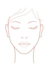 女性 顔 ウインク