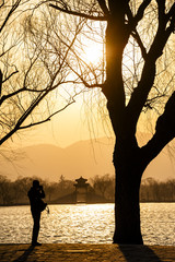 Sunset at Summer Palace in Beijing