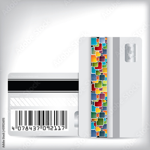Multicolor dotted loyalty card design