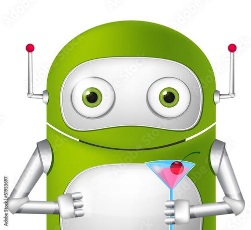 Tuinposter Robots Cute Robot