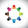 Colorful multi-ethnic corporate executive team or employee group