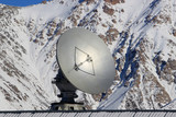 Satellite dish in the mountains