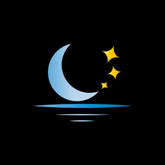 Vector Logo Moon and Stars