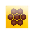 Vector Logo hive & honey