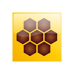Vector Logo hive & honey