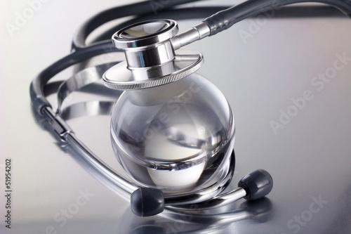 stethoscope on glass