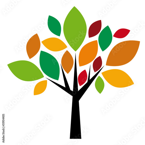 Vector logo autumnal tree