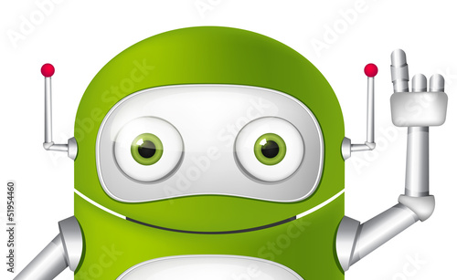 Deurstickers Robots Cartoon Character Android