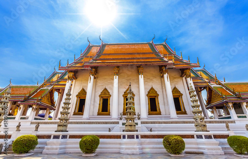 The beautiful main temple of Sututthepwarararm temple, Thailand