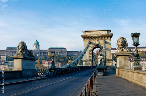 The Chain Bridge across the Danube in Budapest