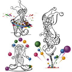 Clowns coloring