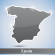 shiny icon in form of Spain