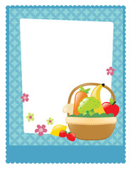 Fruit and veggie basket flyer