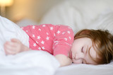 Adorable little girl sleeping