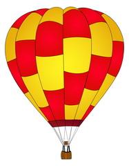 Hot air Balloon Vector.