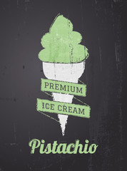 Chalkboard Ice Cream Design