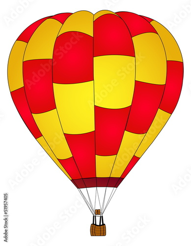 Hot air Balloon Vector.