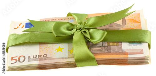 argent paquet cadeau