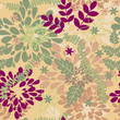 vector seamless  autumn floral background