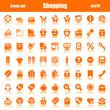 icons orange shopping reflex