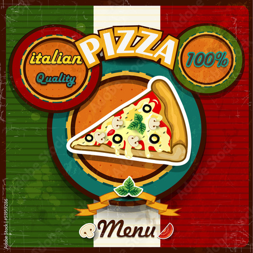 Menu pizza italiana
